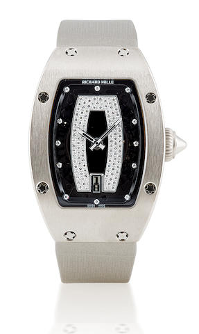 Richard Mille. A fine 18ct white gold ladies wristwatch with dateRM007, Ref no. AF WG/267, Circa 2006