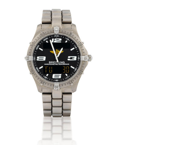 Breitling. A fine titanium wristwatch with digital and analog display Aerospace. Ref: E75362, Serial #596446, Circa 2004