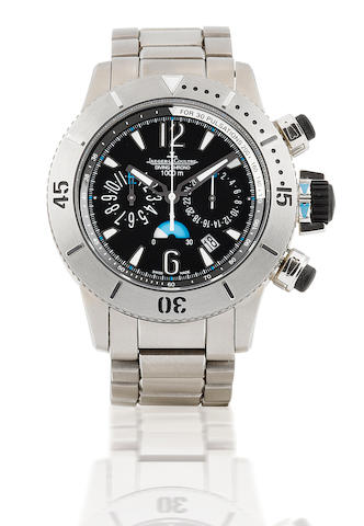 Jaeger LeCoultre. A fine titanium automatic chronograph diving wristwatch Master Compressor Diving Chronograph, Ref: 186T7, Circa 2007