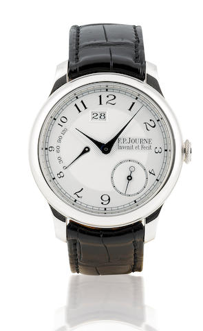 F.P. Journe. A very fine platinum automatic wristwatch with calendar and power reserveOcta Automatique Reserve, Case No.002AR, Circa 2007