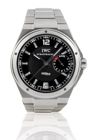 IWC. A fine stainless steel oversized automatic wristwatch with calendar and power reserve Big Ingenieur. Ref : 5005.01, Circa 2008