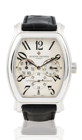 Vacheron Constantin. A fine 18ct white gold automatic calendar wristwatch Royal Eagle, Case No. 754780, Ref: 42008, Circa 2000's