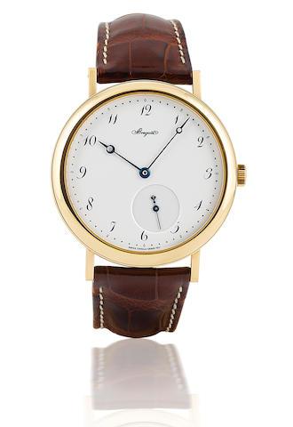 Breguet. A fine 18ct gold automatic wristwatch with enamel dialClassique, Ref 5140, case no. 3235, circa 2003