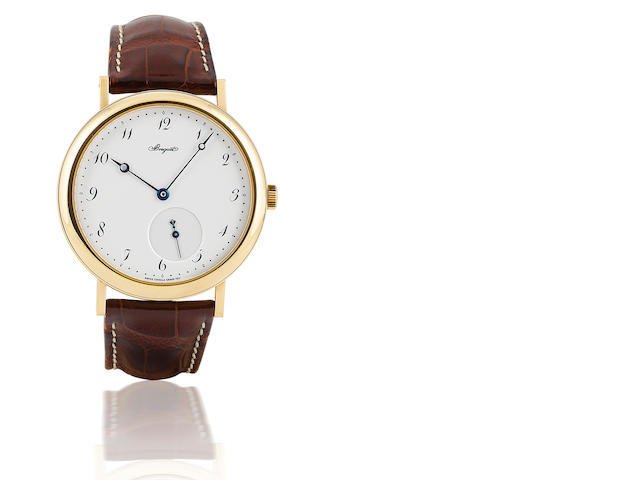 Breguet. A fine 18ct gold automatic wristwatch with enamel dial Classique, Ref 5140, case no. 3235, circa 2003