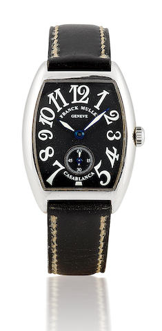 Franck Muller. A fine stainless steel manual wind ladies wristwatchCasablanca, Case no. 1686, Ref: 7502S6, Circa 2000's