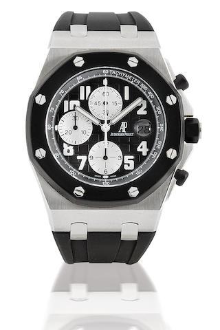 Audemars Piguet. A very fine stainless steel automatic chronograph wristwatch Royal Oak Offshore, Case No. 5718, Ref: 25940, Circa 2005