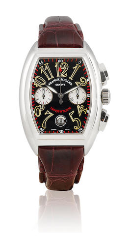 Franck Muller. A fine stainless steel automatic chronograph calendar wristwatch Conquistador, 1990's, No.1154, ref.8002 CC