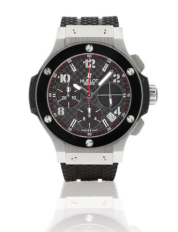 Hublot. A fine stainless steel and ceramic automatic wristwatch with chronograph Big Bang 41mm, Case No. 640241, Ref: 341, Circa 2007