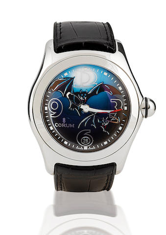 Corum. A fine stainless steel wristwatch with calendar Corum Bubble Bats, Case No. 1717557, Ref: 81 150 20, Circa 2004