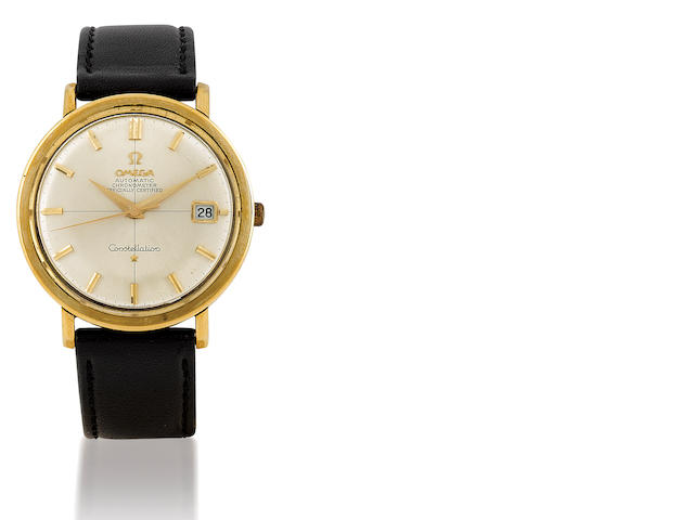 Omega. A gold plated automatic wristwatch with date Constellation, Ref 168.004, Circa 1960's