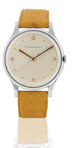 Jaeger LeCoultre. A stainless steel manual wind wristwatchCase No. 508195, Circa 1950's