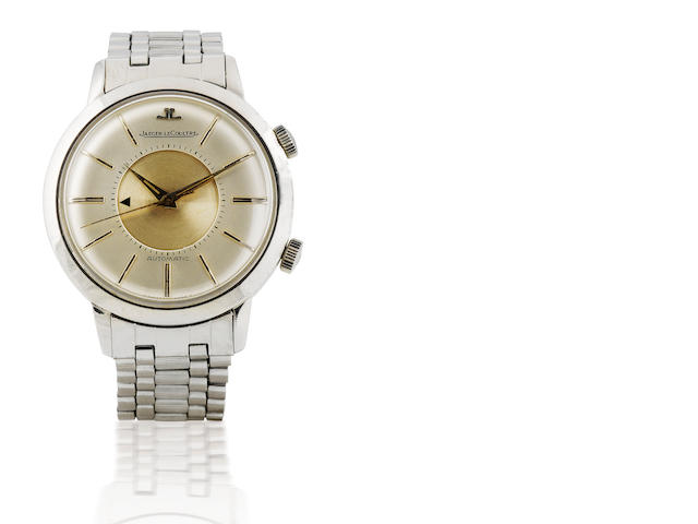 Jaeger LeCoultre. A rare stainless steel automatic wristwatch with alarm function Memovox, Case No. 1144012, Circa 1950's
