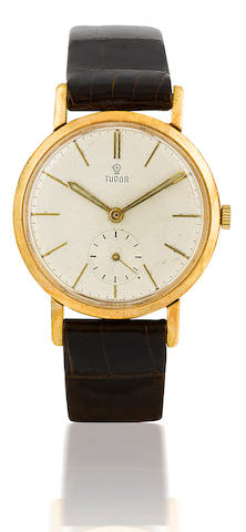 Tudor. A gold filled manual wind wristwatchCase No. 10218, Circa 1940's