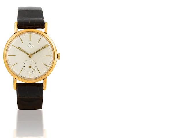 Tudor. A gold filled manual wind wristwatch Case No. 10218, Circa 1940's