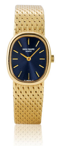 Patek Philippe. A fine 18ct gold manual wind wristwatch Eclipse, Case No. 548882, Ref: 4464/3, Circa 1970's