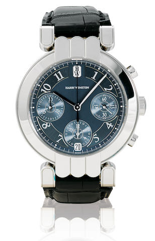 Harry Winston. A fine 18ct white gold automatic wristwatch with chronograph Premier Chronograph, Case No. 116, Ref: 200MCA37W, Circa 2005