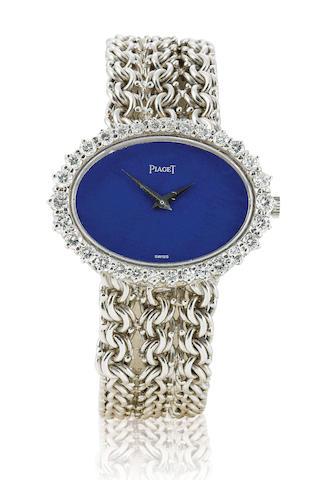 Piaget. An 18ct white gold manual wind ladies diamond watch Case No. 98311, Circa 1970's