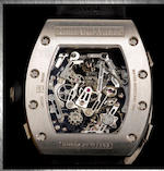 Richard Mille. A fine and very rare titanium chronograph rattrapante wristwatch with 60 hours of power reserve RM004-V2, No. AF Ti/103, Made in 2008