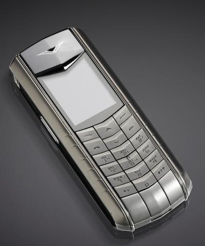 Vertu. A rare stainless steel cellular telephone Accent, Case No. B015358, Ref: RHV-3, Circa 2006