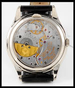 Patek Philippe. A very fine and rare 18ct white perpetual calendar automatic wristwatchRef: 5038, No. 775297, Circa 1990's