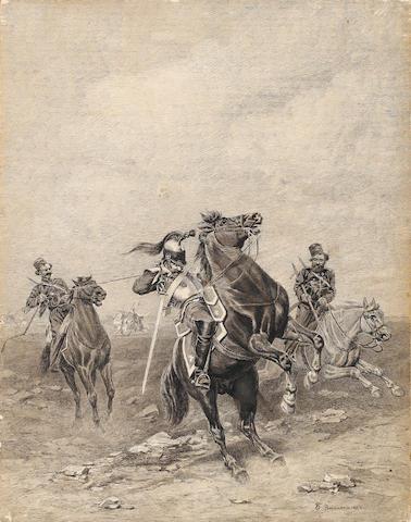 Bogdan (Gotfrid) Pavlovich Villevalde (Russian, 1818-1903) Cossacks