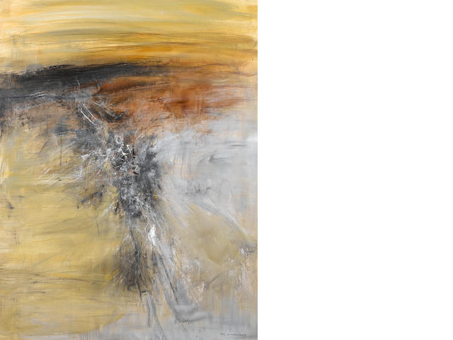 Untitled, Zao Wouki dated April 1963, 97x130 cm