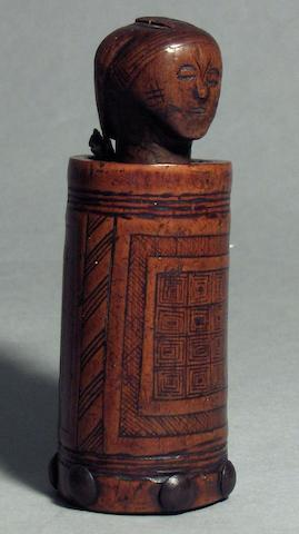 An Ovimbundu tobacco mortar Angola 9.5cm