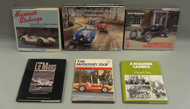 A lot of Maserati literature,