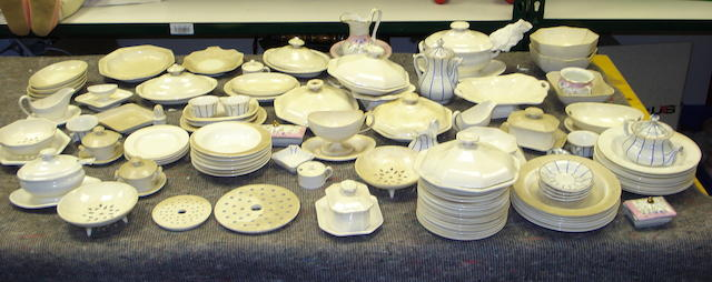 Child's large cream glazed Wedgwood dinner service  lot