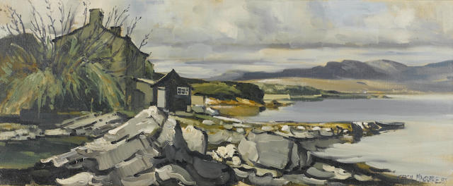 Cecil Maguire (Irish, born 1930) Roundstone, Connemara 38 x 91 cm. (15 x 36 in.)