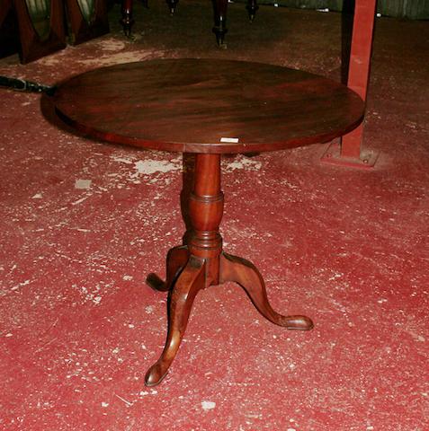 A 19th Century mahogany tripod table