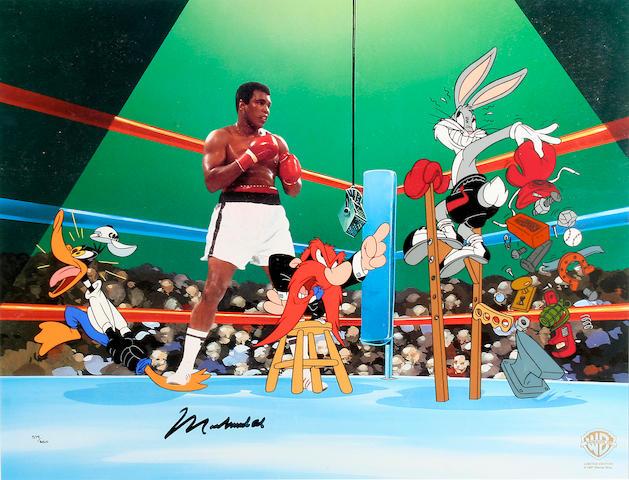 Muhammad Ali Loony Tunes limited edition print