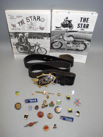 A good collection of original motorcycling lapel badges and ephemera,