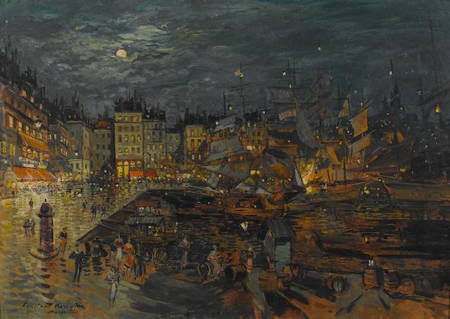 Konstantin Alexeievitch Korovin (Russian, 1861-1939) Le port de Marseilles