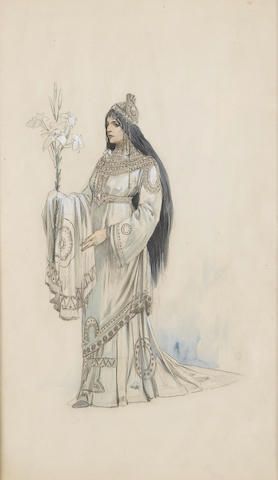 Alphonse Mucha (Czech, 1860-1939) A costume design for the Théâtre de la Renaissance, Paris