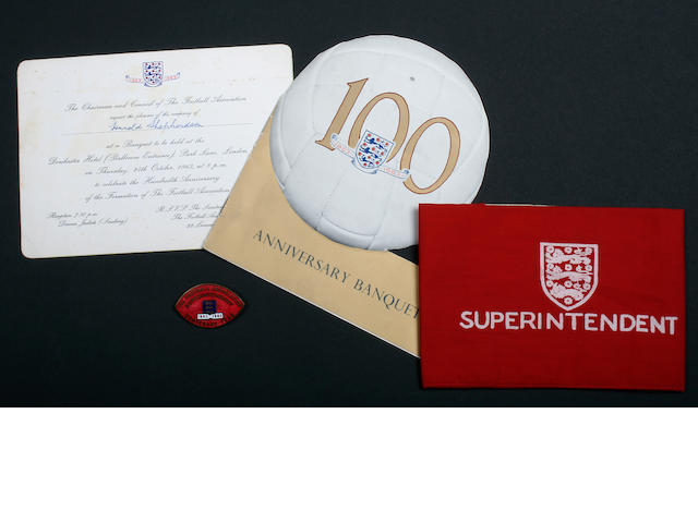 1963 F.A. Centenary year stewards badge and ephemera