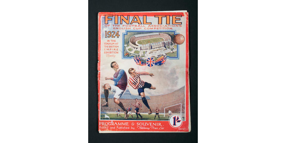 1924 F.A. Cup Final programme