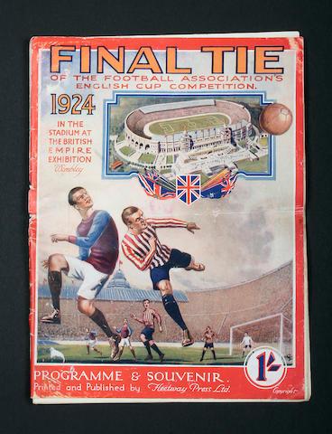 1924 F.A. Cup Final programme