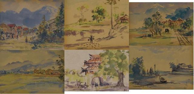 Ishikawa Kinichiro (1871-1945) Taiwan Scenes
