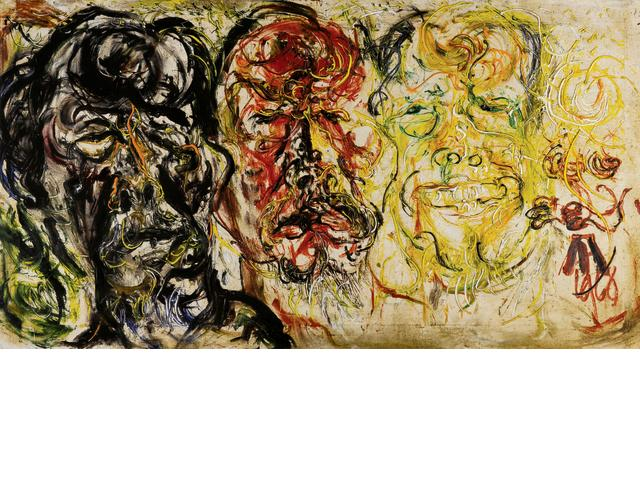 Affandi (Indonesian, 1907-1990) Self Portrait in Three Moods
