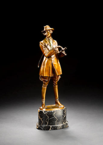 Bruno Zach A Cold-Painted and Patinated Bronze Figure, circa 1920