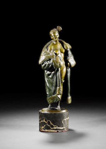 Bruno Zach  A Patinated Bronze Figure, circa 1920
