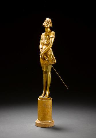 Bruno Zach A Gilt Bronze Figure, circa 1920