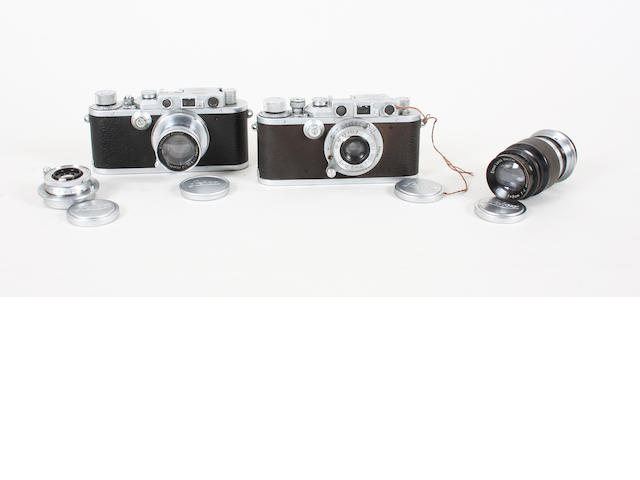 Leica cameras and lenses