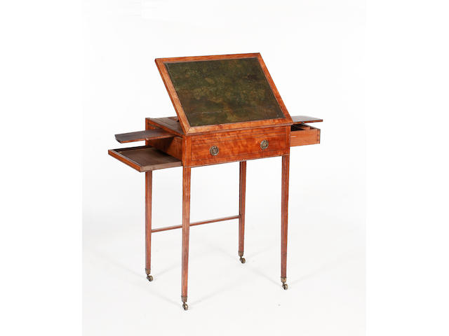 A George III mahogany lady's writing table,