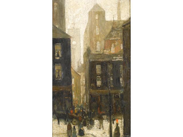 Laurence Stephen Lowry R.A. (British, 1887-1976) Street Scene, 1935 39.3 x 24.4 cm. (15 1/2 x 9 5/8