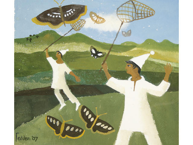 Mary Fedden R.A. (British, born 1915) Catching butterflies