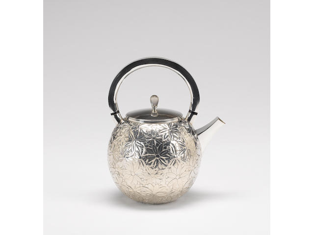 ANGUS McFADYEN : A Scottish silver teapot, Edinburgh 1999, also with the millennium mark,