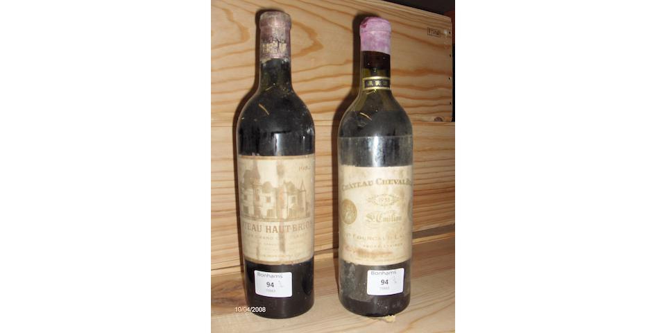 Chateau Cheval Blanc 1953 (1)  Château Haut Brion 1953 (1)