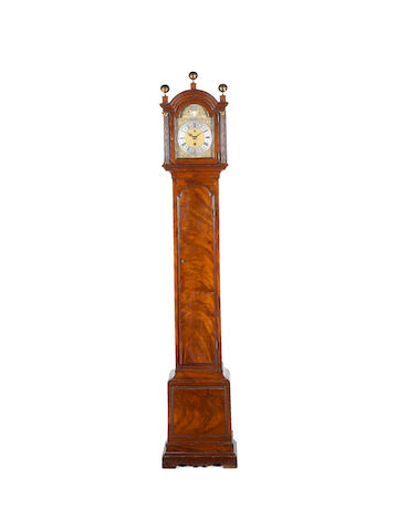 An historically important longcase clock of one year duration and with equation of time subsidiary dial Daniel Delander, London